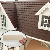 1/12 Doll House Wooden Roof Tiles DIY Miniature Room Painting Accessory 12Pcs