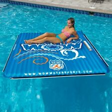 Water Mat 6x6 ft inflatable water mat lounge water-ski fun toy by WOW
