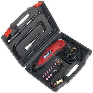 Sealey 40pc Multi Purpose Rotary Tool Engraving Kit Engraver Drill Cutting Set