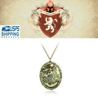 Game of Thrones Lannister Cersei Queen of Lion Head Badge Pendant Necklace