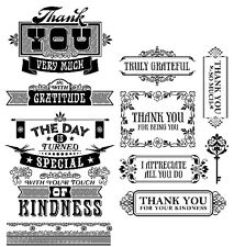 2 Sets Clear Stamps - Thanks, Thank You, Gratitude, Truly Grateful, Kindness