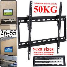 Slim Wall Mount Bracket Tilt For 26 30 32 40 46 48 50 55 inch TV LED LCD Plasma