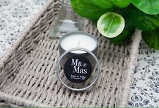 Personalised Wedding Candle Favours / Bomboniere In 2 oz Tin