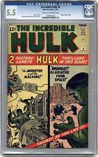 Incredible Hulk #4 CGC 5.5 1962 1348465003