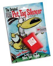 New Neoprene Quiet Spot Pet Tag Silencer Dog, NIP -  RED