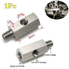 "Turbo Supply Oil Feed Line Fitting Pressure Sensor Tee Adapter 1/8"" NPT -M12X1.5"