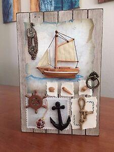 Shadow Key Box Decorative Decor For Sailing Enthusiast