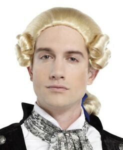 1800'S ADULT MENS GEORGE WASHINGTON COLONIAL PATRIOT COSTUME WIG PONYTAIL BOW
