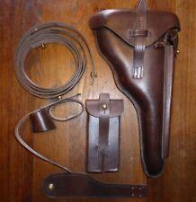 KIT Etui Holster cuir rigide LUGER P08 ARTILLERIE ( P 08 ) brun brown  WW1