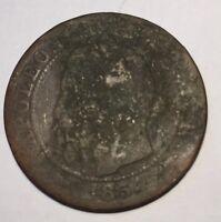 5 Centimes Napoléon 3 1854A N2