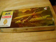 """Air Lines 1/72 Scale """"Victers Vemy"""" #12901 Mfg 1964 Model Plane Kit in box instr"""
