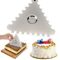 Triangle Sawtooth Cake Cream Smoother Scraper Fondant Decorating Cutter Tools