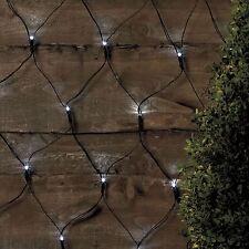 105 LED Outdoor Net Lights Solar Powered White Garden Fairy String Summer