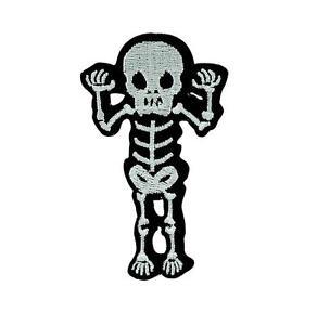 Patch ecusson brodé drapeau backpack squelette tete de mort biker thermocollant