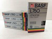Lot Of 5 BASF L-750 Chrome BETA  Video Tapes Pre-Recorded Betamax