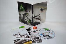 BATMAN Arkham City * Edizione Limitata Steelbook * Per XBOX 360