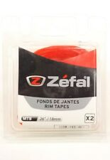 "Zefal 26"" x 18mm PVC Rim Tape, Red, Pair"