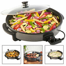 New Quest 1500 Watt Multi Cooker with Large 40cm Diameter Electric Frying Pan