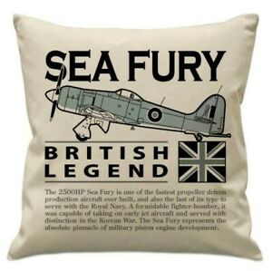 Hawker Sea Fury, Royal Navy Fighter/Bomber Aircraft Cushion (Inner Included).