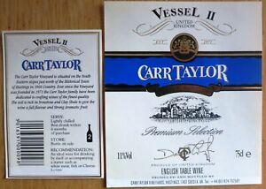 Etiquettes vin UNITED KINGDOM CARR TAYLOR Vessel II English Table Wine  Labels