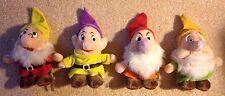 4 Vintage Disneyland/Walt Disney World Dwarf Plush Dolls - Excellent Condition