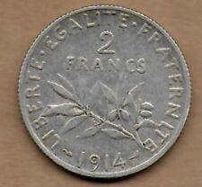 2 Francs argent La Semeuse 1914