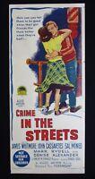 CRIME IN THE STREETS 1956 Orig Australian daybill movie poster Cassavetes noir