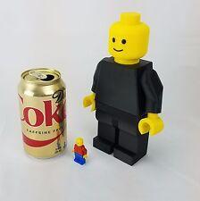 Massive 8in Giant Jumbo 3D Printed Lego Compatible Custom Mini figure - Black