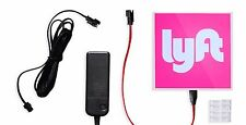 Lyft Illuminated LED Logo Glow Sign, Bright Light Vehicle Decal for Drivers NEW