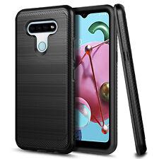 For LG K51 / Reflect Case Ultra Sim Thin Carbon Fiber Brushed Design Phone Cover