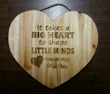 Personalized Heart Sign for Teacher Babysitter daycare Christmas School Gift
