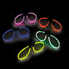 25 GLOW STICK GLASSES!!!  INCLUDES GLOW STICKS!!!  FAST US PRIORITY SHIPPING!!!