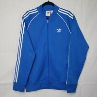 NEW Adidas TREFOIL ED6053 Originals Classic Track Jacket Blue White SIZE L XL