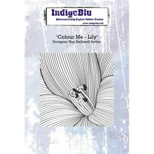 Indigoblu Colour Me Lily A6 Mounted Rubber Stamp