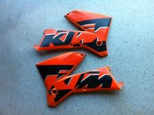 Used KTM SX EXC radiator spoilers 2005-2007 orange