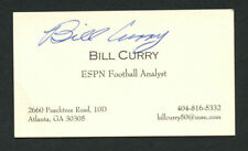 Billy Curry signed autograph auto ESPN Football Analyst Business Card BC199