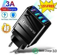 QC3.0 Fast Quick Charge 4 USB Ports Hub Wall Charger Power Adapter US-EU UK Plug
