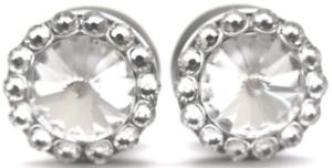 Handmade Swarovski Crystal Diamond Plugs - Sizes 6g to 11/16 inch