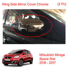Wing Side Mirror Cover Chrome 2 Pc Fit Mitsubishi Mirage Space Star 2016 - 2017