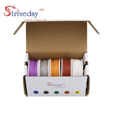 50m/box 26AWG 10 meters Each colors Flexible Silicone Rubber Tinned Copper Wire
