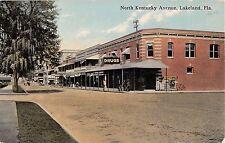 c.1910 Corner Drug Store North Kentucky Ave. Lakeland FL post card
