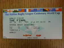 28/10/1995 BIGLIETTO Rugby: World cup finale, in Inghilterra V Australia [A WEMBLEY