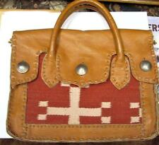 Char designed Leather & Cloth Hand Made Briefcase   Bag    One of a kind