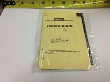 """AICO Memo Index Leather Tabs A-Z M106 6"""" x 3-1/2"""" Side Punch - New Old Stock"""
