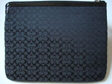 NWT COACH SIGNATURE TABLET IPAD EREADER SLEEVE CASE COVER BLACK