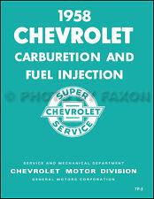 1958 Chevrolet Fuel Injection Service Training Manual Corvette Impala Chevy