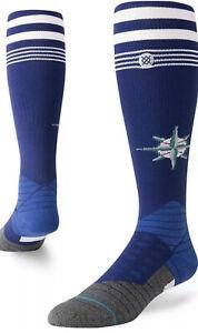 Seattle Mariners Over The Calf Stance Socks Medium L 9-12 Blue Baseball MLB