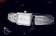 Gold silver Fashion Diamond Luxury Lady Rhinestone Wrist Quartz Bracelet Watch