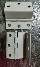 2 vintage Stanley swing door hinge Gray grey New