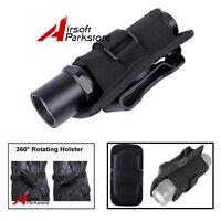 UltraFire Belt Clip 360 Degrees Rotatable Flashlight Torch Pouch/Holster Black